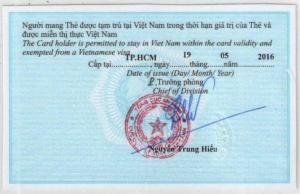 temporary residence card Nha Trang 2