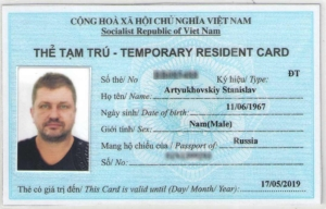 How to make residence card Nha Trang