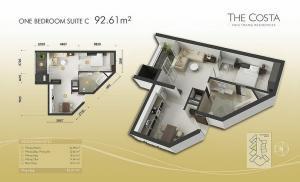 1-bed Suite C 93m2
