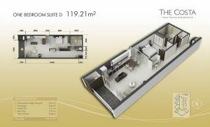 1-bed Suite D 119m2