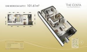 1-bed Suite E  101m2