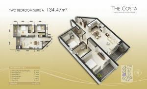 2-bed Suite A 134m2