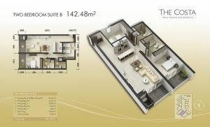 2-bed Suite B 142m2