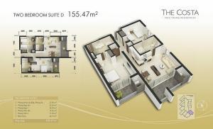 2-bed Suite D 155m2