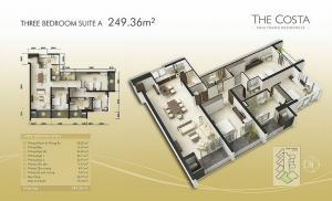 3-bed Suite A 249m2