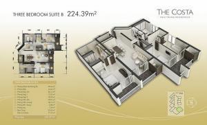3-bed Suite B 224m2