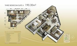 3-bed exec Suite A 190m2