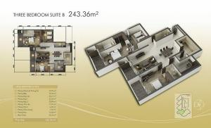 3-bed exec Suite B 243m2
