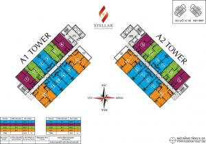 Stellar floor plan 5-24th floor